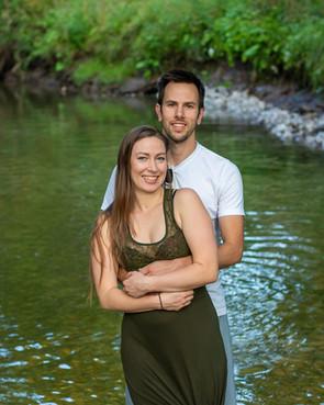 Daniel and Lauren at Spencer Creek