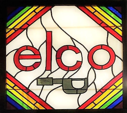 Our iconic Elco stained glass window was made by our founder's daughter in the 1960's