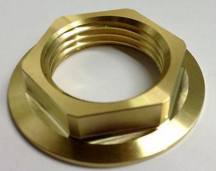 "Collared 1-1/4"" Brass Lock Nut"
