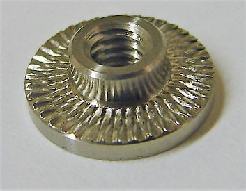 Face-knurled SS Nut Insert for Carbon Fiber Layup