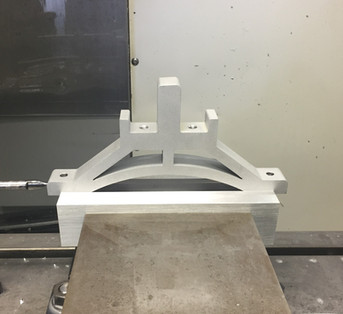 Finish Machining a Water-jetted Part
