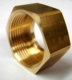Hex Brass Bonnet  Nut