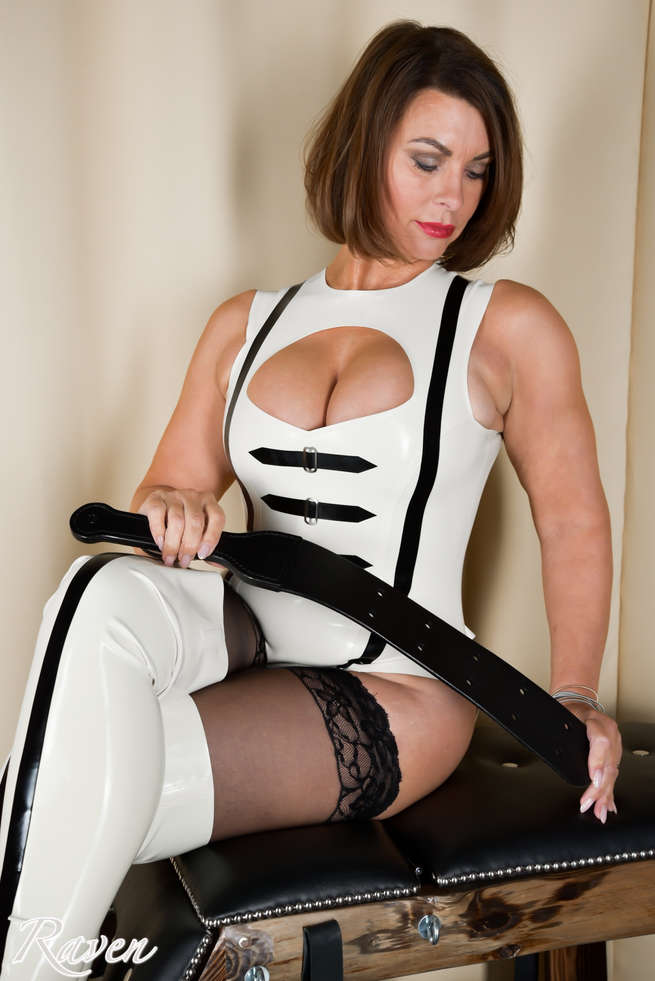 White Latex with Stockings