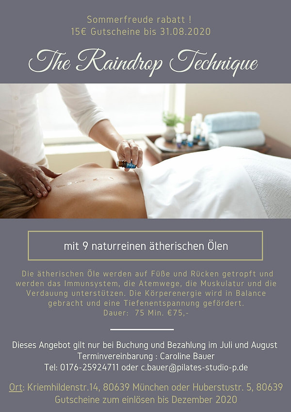 Raindrop Technique - Massage - München
