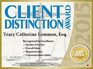 Martindale-Hubbell Client Distinction Award Tracy C. Lemmon