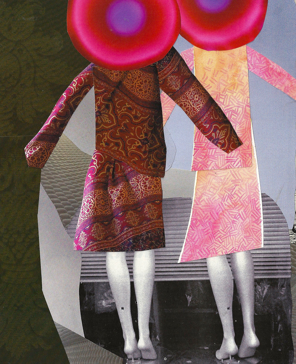 Pink Hats     Collage by Martha Clark Scala
