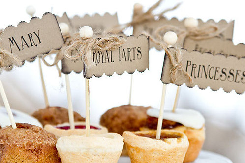 Vintage style dessert toppers