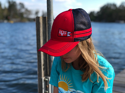 SKYC Mesh Back Trucker Red/Navy with Red Stripes