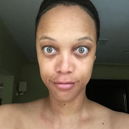 Tyra Banks Goes Makeup-Free