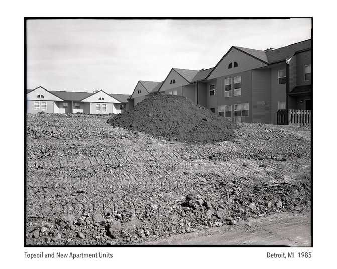 Top Soil and New Apartment Units 1985
