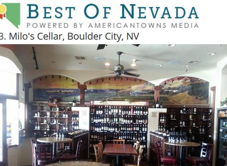 Milo's Ranked #3 Wine Bar in Nevada