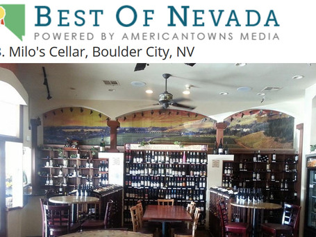Milo's Ranked #3 Wine Bar in Nevada