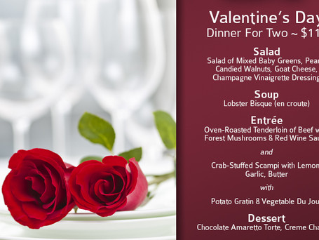 Enjoy Valentine's Day Dinner at Milo's