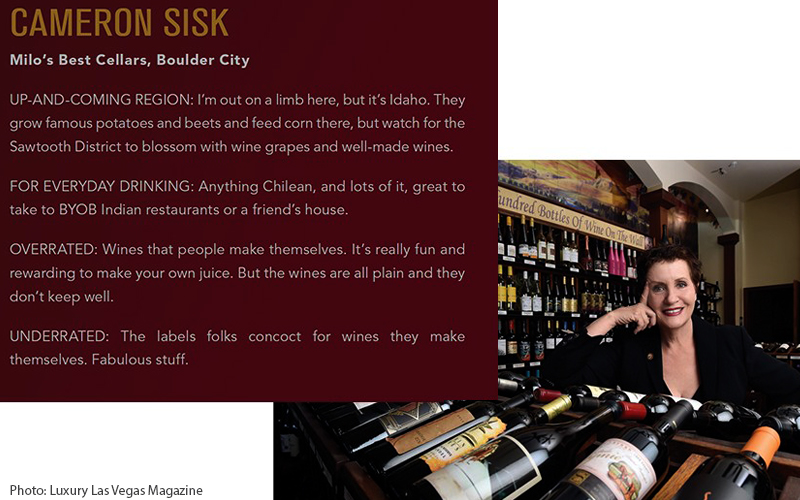 Master Sommelier Cameron Sisk Featured in Luxury Las Vegas Magazine