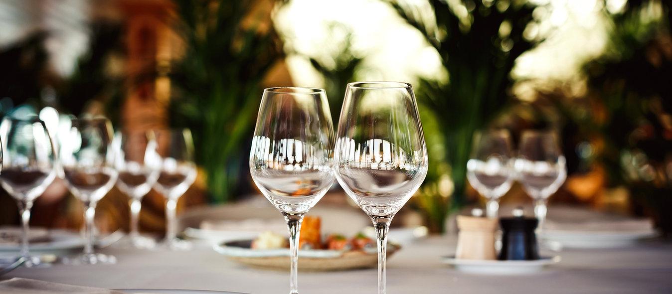 taças vinho evento