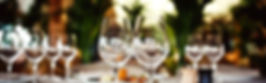 Wine glasses; catering