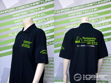 Textildruck Polo Schitter Forstservice