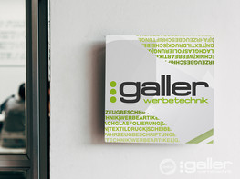 Schild Galler Werbetechnik