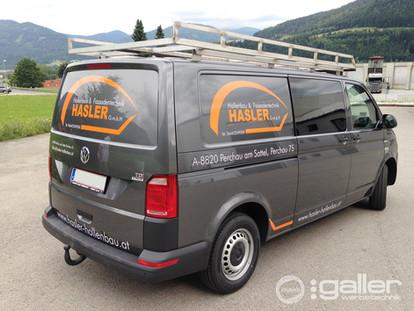Fahrzeugfolierung Hasler Hallenbau