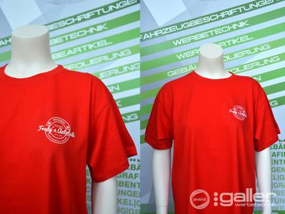 Textildruck T-Shirt Fredys Autoteile