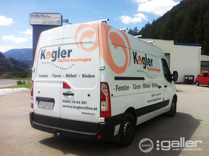 Fahrzeugfolierung  Kogler Tischlereimontagen