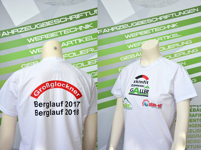 Textildruck T-Shirt Berglauf