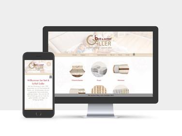 Homepage Bett&Schlaf Galler