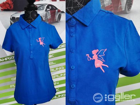 Textildruck Poloshirt Reinigunsdienst Payer