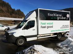 Fahrzeugfolierung Tischlerei Gruber