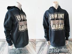 Textildruck Pulli Erwins Garage