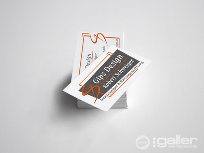 Visitenkarten Gipsdesign Schweiger