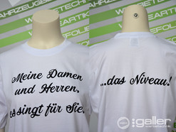 Textildruck T-Shirts Singt