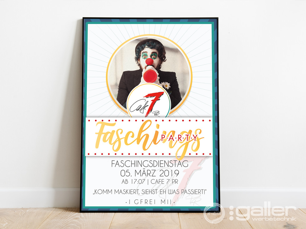 Plakat Faschingsparty