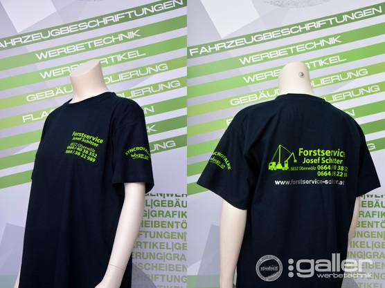 Textildruck T-Shirt Schitter Forstservic