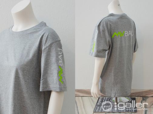 Textildruck T-Shirts MV Bau