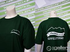 Textildruck T-Shirts Polterabend