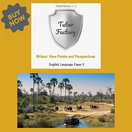 Safari - English Language Paper 2 Practice