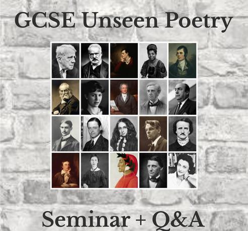 GCSE Unseen Poetry - Seminar + Q&A