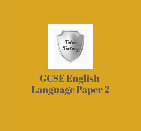 AQA GCSE English Language Paper 2