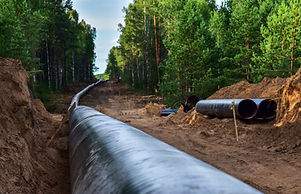 Construction Gas Pipeline Project. Natur