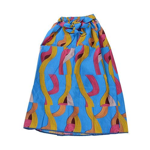 African Dutch Ankara Print Full Circle Skirt Printed Womens Casual Maxi Skirt