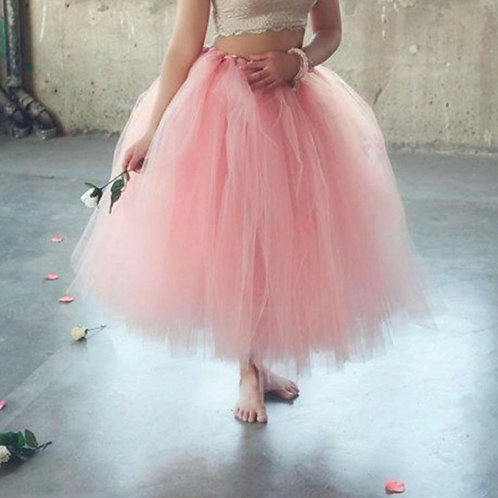 Handmade Midi Tulle Tutu Skirts for Women High Quality Ball Gown Skirt