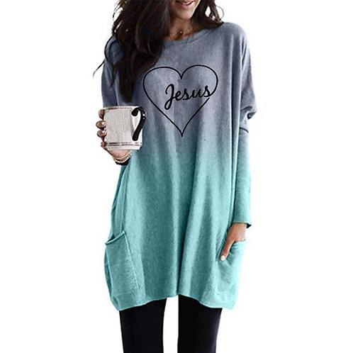 Fashion T-Shirt for Women Sleeve Pocket T-Shirt Female Tops Streetwear Cute