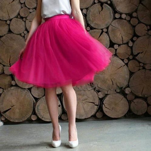 Women Tulle Skirt Women Lace Pink Knee Length Empire Girls Plus Size Tulle Skirt