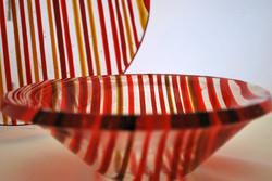 Bowl in red stripes