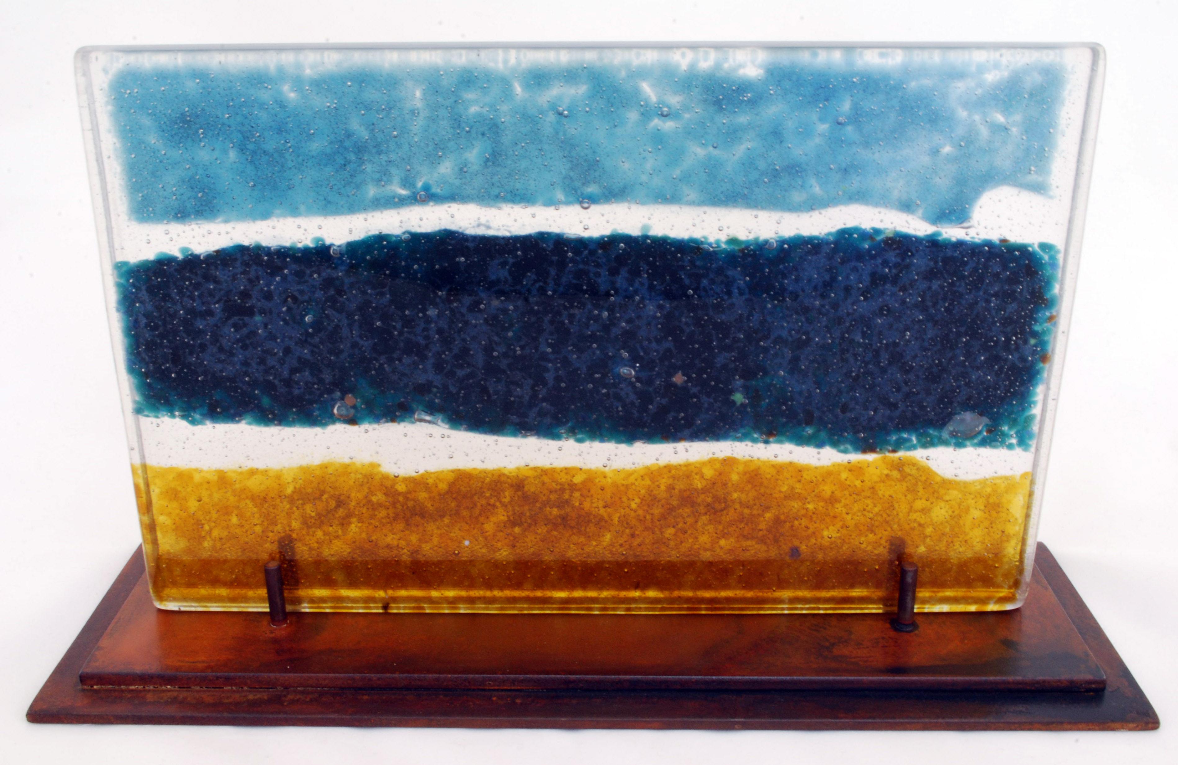 Seascape, glass sculpture