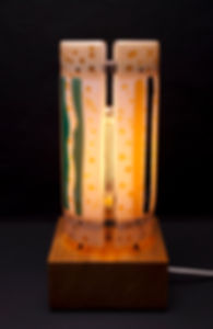 Table lamp designed by Taverner Glass