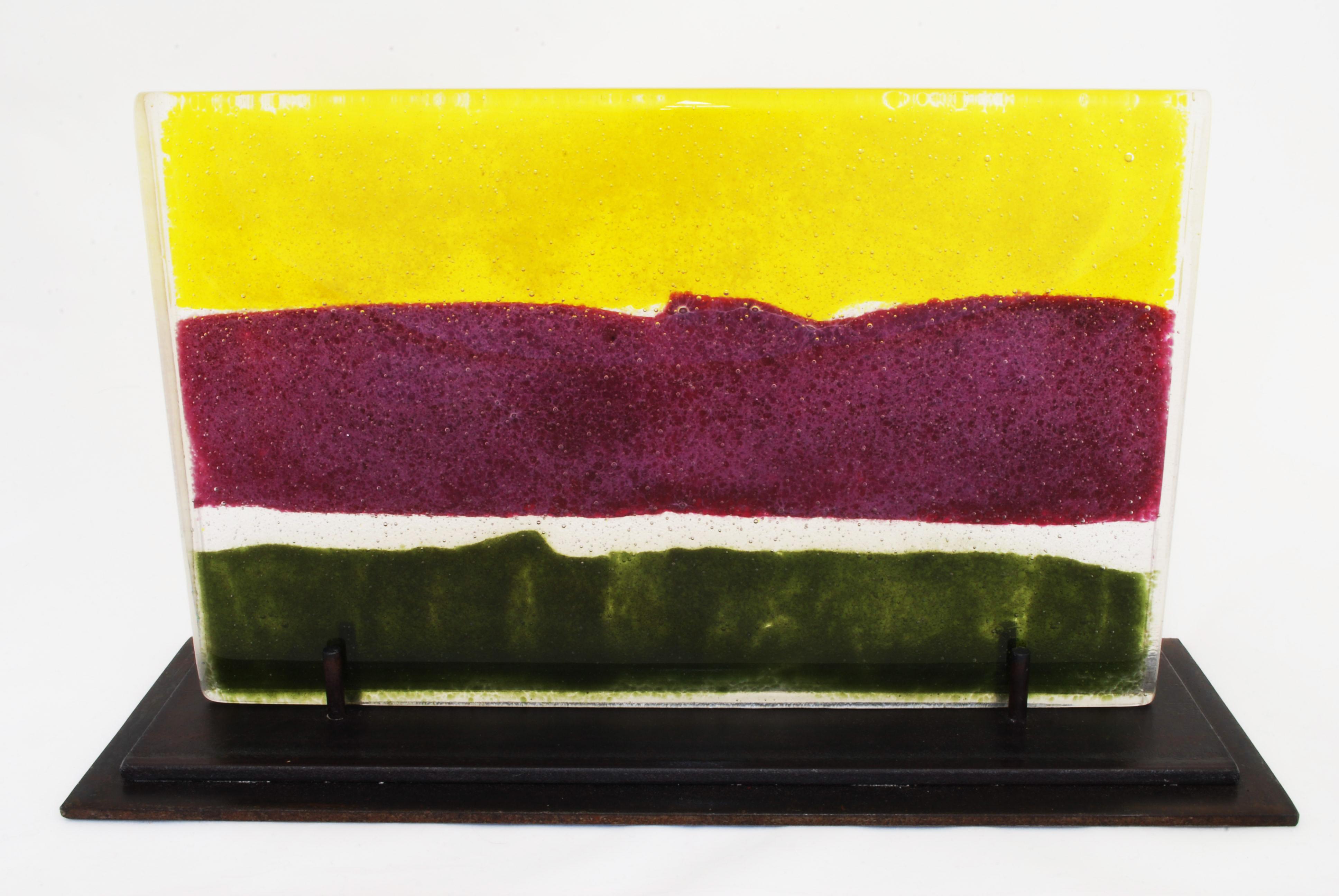 Landscape, glass sculpture