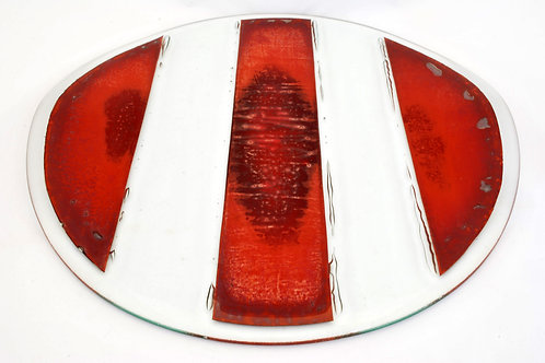 Platter, large glass platter with Copper inclusion