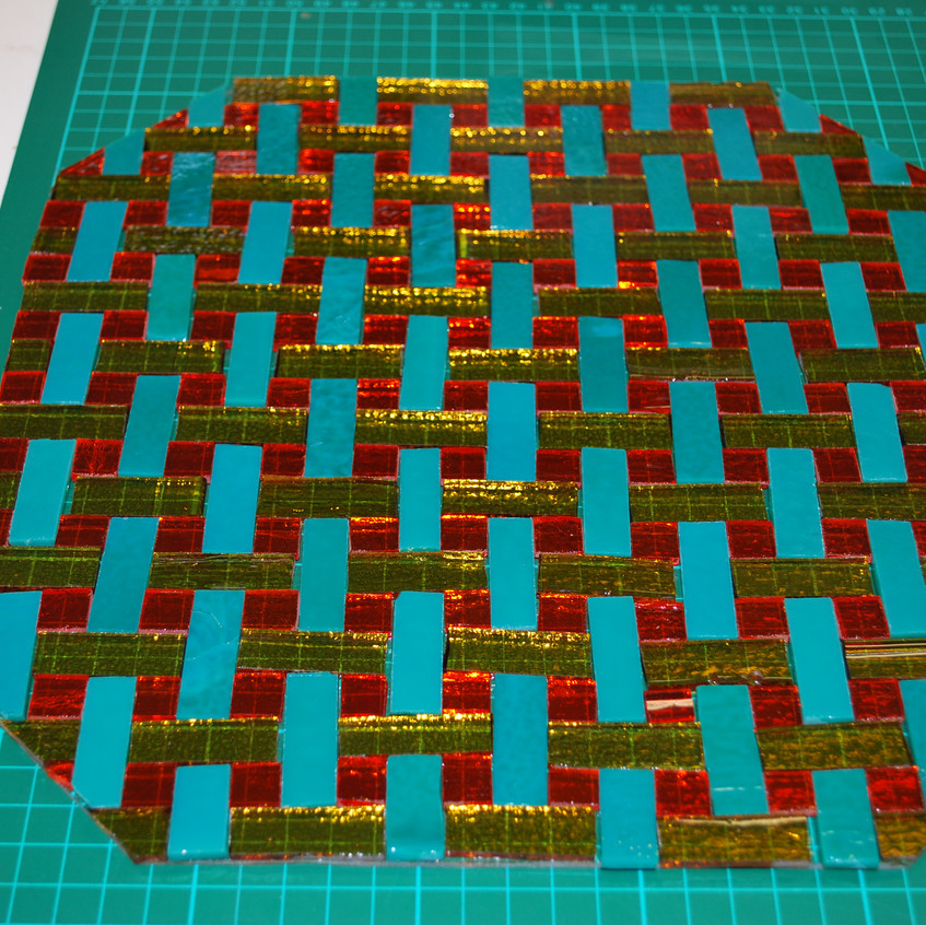 Basket weave plate assembly